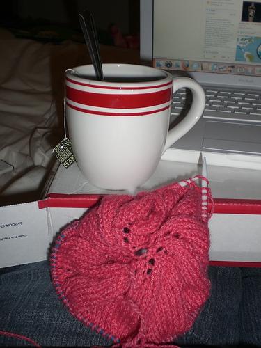 Monday night sick knitting