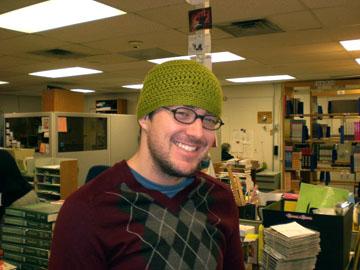 crocheted hat for John