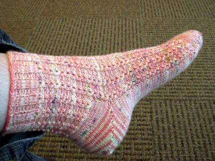 one sock down!