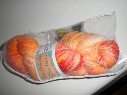 Orange you glad swell sock yarn 6-9-07
