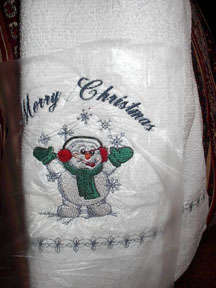 Mom's christmas dishtowel