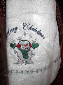 Mom's christmas dishtowel