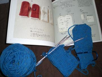 tweed mittens