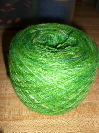 lime light lace yarn