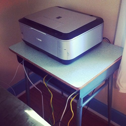 New modem/printer storage
