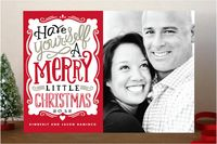 Merry Typography Holiday Photo Cards