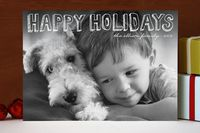Hand Drawn Holiday Holiday Photo Cards